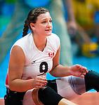 Danielle Ellis, Rio 2016 - Sitting Volleyball // Volleyball assis.<br /> Canada competes against Ukraine in the Women's Sitting Volleyball Preliminary // Le Canada affronte l'Ukraine dans le tournoi préliminaire de volleyball assis féminin. 13/09/2016.