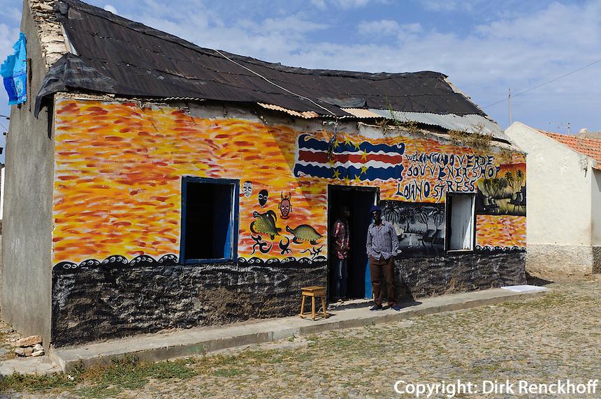 Andenkengeschäft in Povoacao Velha, Boa Vista, Kapverden, Afrika