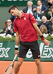 May 24, 2016:  Novak Djokovic (SRB) defeated Yen-Hsun Lu (TPE) 6-4, 6-1, 6-1 at the Roland Garros being played at Stade Roland Garros in Paris, .  ©Leslie Billman/Tennisclix/CSM