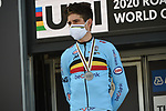 Silver medal for Wout Van Aert (BEL) finishing 2nd at the 31.7km Men Elite Time Trial of the 2020 UCI World Championships held around Imola, Italy. 25th September 2020.  <br /> Picture: Sirotti Stefano | Cyclefile<br /> <br /> All photos usage must carry mandatory copyright credit (© Cyclefile | Sirotti Stefano)