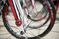 transponders on each bike identify the rider when crossing intermediate or finish lines<br /> <br /> Stage 20: Megève › Morzine (146.5km)<br /> 103rd Tour de France 2016