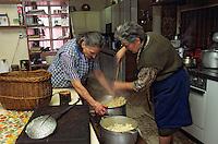 """Europe/France/Auvergne/12/Aveyron/Livinhac-le-Haut: Restaurant """"Druilhe"""" - Préparation du stockfish (ou estofinade ou estofinado) [Non destiné à un usage publicitaire - Not intended for an advertising use] [(<br /> PHOTO D'ARCHIVES // ARCHIVAL IMAGES<br /> FRANCE 2000"""