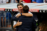 Real Madrid's Julen Lopetegui and CD Leganes's coach Mauricio Pellegrino during La Liga match. September 01, 2018. (ALTERPHOTOS/A. Perez Meca)