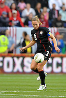 USWNT defender Christie Rampone (3) controls the ball.