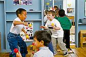 MR/Schenectady, New York.Yates Arts Magnet School-Pre Kindergarten.Boys (4) at free play time..MR: Gar4, Mcg1.PN#:28919      FC#:20332-00415.scan from slide.© Ellen B. Senisi
