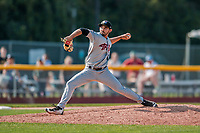4 September 2017: Tri-City ValleyCats pitcher Luis Ramirez on the mound during the first game of a double-header against the Vermont Lake Monsters at Centennial Field in Burlington, Vermont. The ValleyCats split their games, winning 6-5 in the first, then dropping the second 7-4 in NY Penn League action. Mandatory Credit: Ed Wolfstein Photo *** RAW (NEF) Image File Available ***