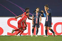 23rd August 2020, Estádio da Luz, Lison, Portugal; UEFA Champions League final, Paris St Germain versus Bayern Munich;  Kingsley COMAN  (M) celebrates his goal with Serge GNABRY (M)