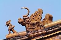 Grab Changling, Dach-Detail, Minggräber, Peking (Beijing), China, Unesco-Weltkulturerbe