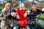 Enjoying the playground in the Tralee town park on Sunday, l to r: Zhanna, Liza, Jocha and Genys Chetekauri