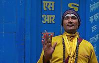 Sadhus in the street of Kathmandu, Nepal