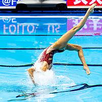 ALVAREZ - REMATI USA United States<br /> Gwangju South Korea 12/07/2019<br /> Artistic Swimming Duet Technical Preliminaries<br /> 18th FINA World Aquatics Championships<br /> Yeomju Gymnasium <br /> Photo © Giorgio Scala / Deepbluemedia / Insidefoto