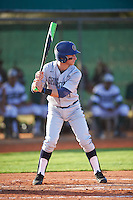 Georgetown Hoyas third baseman John Simourian (1) at bat during a game against the Chicago State Cougars on March 3, 2017 at North Charlotte Regional Park in Port Charlotte, Florida.  Georgetown defeated Chicago State 11-0.  (Mike Janes/Four Seam Images)