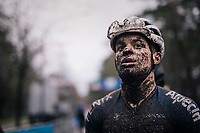 Loris Rouillers (SUI/Alpecin-Fenix) muddy post race face<br /> <br /> Men's Race at the X2O Herentals Cross 2020 (BEL)<br /> <br /> ©kramon