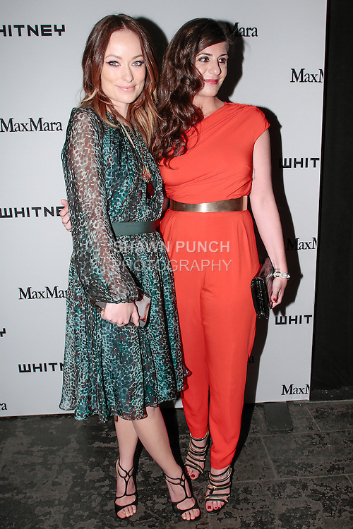 Actress Olivia Wilde (left) Maria Giulia Maramotti, attend the annual Whitney Art Party hosted by the Whitney Contemporaries, and sponsored by Max Mara, at Skylight at Moynihan Station on May 1, 2013.