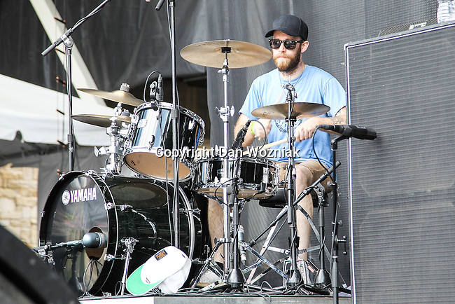 BRAIN HILL of the American rock band Wavves performs during the summer X-Games at the Circuit of the Americas race track in Austin, Texas.