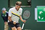 March 17, 2018: Roger Federer (SUI) defeated Borna Coric (CRO) 5-7, 6-4, 6-4 in Wells Tennis Garden in Indian Wells, California. ©Mal Taam/TennisClix/CSM