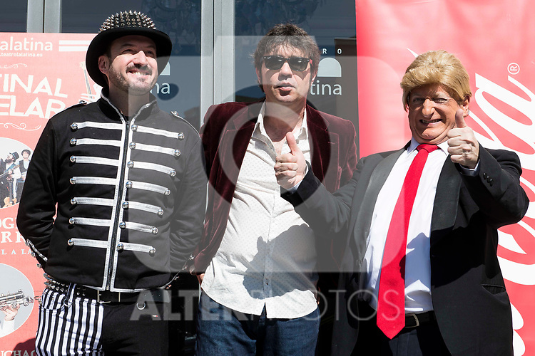"""Álex O'Dogherty, Lichis and Javier Gurruchaga during the presentation of the family cycle """"Matinal Estelar"""" at Teatro La Latina in Madrid. March 09, 2017. (ALTERPHOTOS/Borja B.Hojas)"""