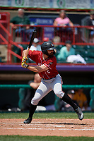 Altoona Curve Ryan Peurifoy (6) at bat during an Eastern League game against the Erie SeaWolves and on June 4, 2019 at UPMC Park in Erie, Pennsylvania.  Altoona defeated Erie 3-0.  (Mike Janes/Four Seam Images)