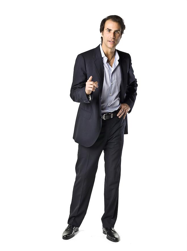 Ben Silverman, Chairman of NBC Entertainment, at the PODER Magazine Philanthropy Symposium on March 12, 2008