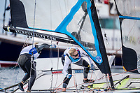 Genoa, Italy is hosting sailors for the third regatta of the 2019 Hempel World Cup Series from 15-21 April 2019. More than 700 competitors from 60 nations are racing across eight Olympic Events.©JESUS RENEDO/SAILING ENERGY/WORLD SAILING<br /> 15 April, 2019.