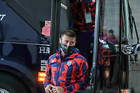 KANSAS CITY, KS - JULY 15: Paul Arriola #7 of the United States arriving at the stadium before a game between Martinique and USMNT at Children's Mercy Park on July 15, 2021 in Kansas City, Kansas.