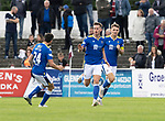 Arbroath v St Johnstone…15.08.21  Gayfield Park      Premier Sports Cup<br />Jamie McCart celebrates his goal<br />Picture by Graeme Hart.<br />Copyright Perthshire Picture Agency<br />Tel: 01738 623350  Mobile: 07990 594431