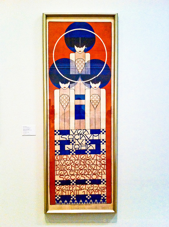 Kolo Moser poster for a Secession exhibit.