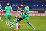 28th June 2020; RCDE Stadium, Barcelona, Catalonia, Spain; La Liga Football, Real Club Deportiu Espanyol de Barcelona versus Real Madrid; Picture show Embarba and Barane