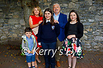 Adele Hanlon former student from Caherleaheen NS at her Confirmation in St Johns Church Tralee on Sunday with her family l to r: Harry, Rita, Adele, Darren and Jessica Hanlon.