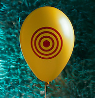 Balloon with target.