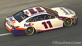 #11: Denny Hamlin, Joe Gibbs Racing, Toyota Camry<br /> <br /> (MEDIA: EDITORIAL USE ONLY) (This image is from the iRacing computer game)