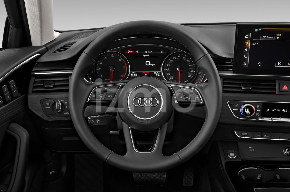 Car pictures of steering wheel view of a 2020 Audi A4-Sedan Premium 4 Door Sedan Steering Wheel