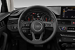 Car pictures of steering wheel view of a 2020 Audi A4-Sedan Premium 4 Door Sedan Steering Wheel