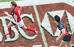 Canada play Philippines on Day 1 of the 2012 Cathay Pacific / HSBC Hong Kong Sevens at the Hong Kong Stadium in Hong Kong, China on 23rd March 2012. Photo © Ricardo Ordonez  / The Power of Sport Images