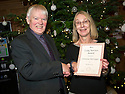 Christine McGregor receives her Long Service Award from Ian Scott, Chair, Falkirk Community Trust.