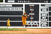 Jacksonville Suns shortstop Austin Nola (36) throws to first during the 20th Annual Rickwood Classic Game against the Birmingham Barons on May 27, 2015 at Rickwood Field in Birmingham, Alabama.  Jacksonville defeated Birmingham by the score of 8-2 at the countries oldest ballpark, Rickwood opened in 1910 and has been most notably the home of the Birmingham Barons of the Southern League and Birmingham Black Barons of the Negro League.  (Mike Janes/Four Seam Images)