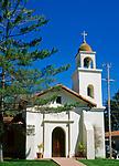 Mission Santa Cruz, the twelfth mission, founded on August 28, 1791. Santa Clara, California