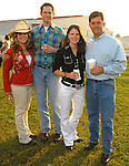 Cynthia Piro, Heath Barnes, Shelly Barnett and Todd Barnett at the Cattle Baron's Ball at the George Ranch Saturday April 28,2007.(Dave Rossman/For the Chronicle)