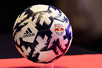 Philadelphia, PA - Friday January 19, 2018: New York Red Bulls adidas soccer ball during the 2018 MLS SuperDraft at the Pennsylvania Convention Center.