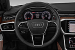 Car pictures of steering wheel view of a 2019 Audi A6 Premium Plus 4 Door Sedan