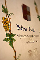Europe/France/Aquitaine/24/Dordogne/Monbazillac: Château de Monbazillac  qui appartient à la Cave coopérative de Monbazillac - Détail arbre généalogique des familles du vignoble