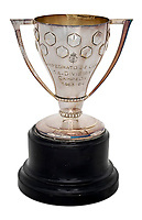 BNPS.co.uk (01202 558833)<br /> Pic: Julien'sAuctions/BNPS<br /> <br /> Pictured: Alfredo Di Stefano 1964 Real Madrid Spanish League Champions Reproduction Trophy.<br /> <br /> An epic collection of medals, trophies, shirts and personal items relating to footballing legend Alfredo Di Stefano is being sold by his family for over £1m.<br /> <br /> Many of the awards won by the great goalscorer have, until recently, been on display at the Real Madrid Museum, the club where he played for most of his career.<br /> <br /> The Argentine-born striker is regarded as one of the best players of all-time and is often compared to Cristiano Ronaldo.<br /> <br /> During Di Stafano's time with Real Madrid in the 1950s and '60s, the Spanish giants dominated European football, largely due to his goals and assists.