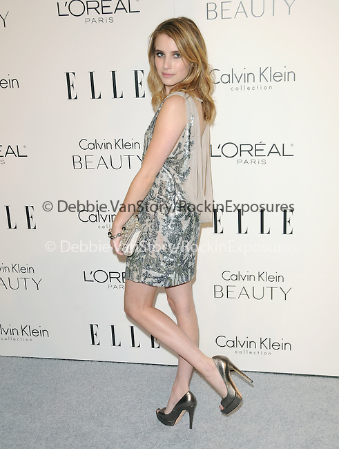 Emma Roberts walks the carpet as Elle Honors Hollywood's Most Esteemed Women in the 17th Annual Women in Hollywood Tribute held at The Four Seasons Beverly Hills in Beverly Hills, California on October 18,2010                                                                               © 2010 VanStory/Hollywood Press Agency