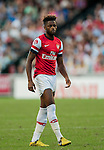 Alex Song of Arsenal FC in action during the pre-season Asian Tour friendly match against Kitchee FC at the Hong Kong Stadium on July 29, 2012. Photo by Victor Fraile / The Power of Sport Images
