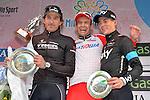 Alexander Krisoff (NOR) Katusha wins the 105th Milano-Sanremo 2014 this afternoon. Kristoff beat Fabian Cancellara (SUI) Trek Factory Racing and Ben Swift (GBR) Sky Procycling, Sanremo, Italy. 23rd March 2014.     <br /> Photo: Gian Mattia D'Alberto/LaPresse/www.newsfile.ie