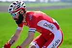 Geoffrey Soupe (FRA) Cofidis part of the breakaway group  during the 116th edition of Paris-Roubaix 2018. 8th April 2018.<br /> Picture: ASO/Pauline Ballet | Cyclefile<br /> <br /> <br /> All photos usage must carry mandatory copyright credit (© Cyclefile | ASO/Pauline Ballet)