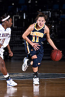 SAN ANTONIO, TX - FEBRUARY 9, 2008: The St. Edward's University Hilltoppers vs. the St. Mary's University Rattlers Women's Basketball at Bill Greehey Arena. (Photo by Jeff Huehn)