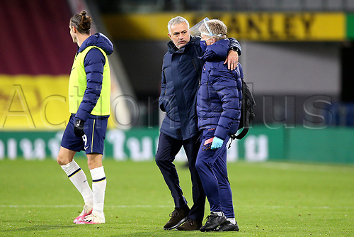 26th October 2020, Turf Moor, Burnley UK; EPL Premier League football, Burnley v Tottenham Hotspur; A satisfied Tottenham Hotspur Manager Jose Mourinho