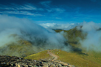 Beinn Ghlas and Meall Corranaich from Ben Lawers, Perthshire