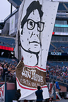FOXBOROUGH, MA - JULY 25: In memory of Paul Mariner before a game between CF Montreal and New England Revolution at Gillette Stadium on July 25, 2021 in Foxborough, Massachusetts.
